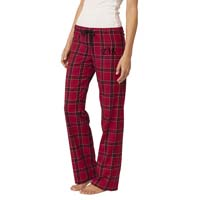 Young Ladies (Juniors) Flannel Plaid Pants - Red