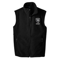 STAFF - Men's Fleece Vest - Black