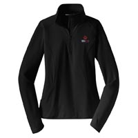 STAFF - Ladies Stretch 1/2 Zip Pullover - Black