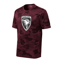 ADULT - Unisex Performance CamoHex Shirt - Maroon